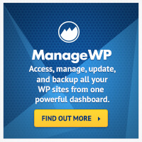 ManageWP for managing multiple WordPress sites at once