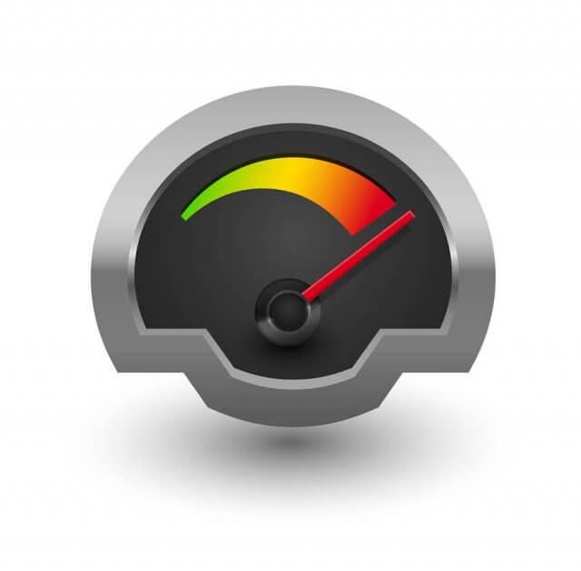 Chrome Speedometer Illustratio