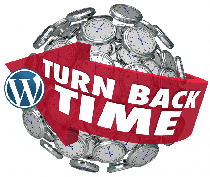 Turn back time to a previous version of a post