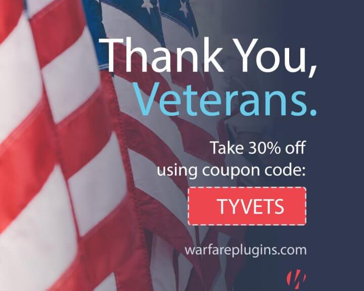 Social Warfare 24-hour Veterans Day Sale!